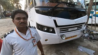Small Chat with Bus Driver of Orange Travels AC Sleeper Bus Bangalore Bidar | Ashok Leyland Veera