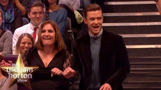 Video Justin Timberlake Dances With The Audience - The Graham Norton Show download MP3, 3GP, MP4, WEBM, AVI, FLV November 2017