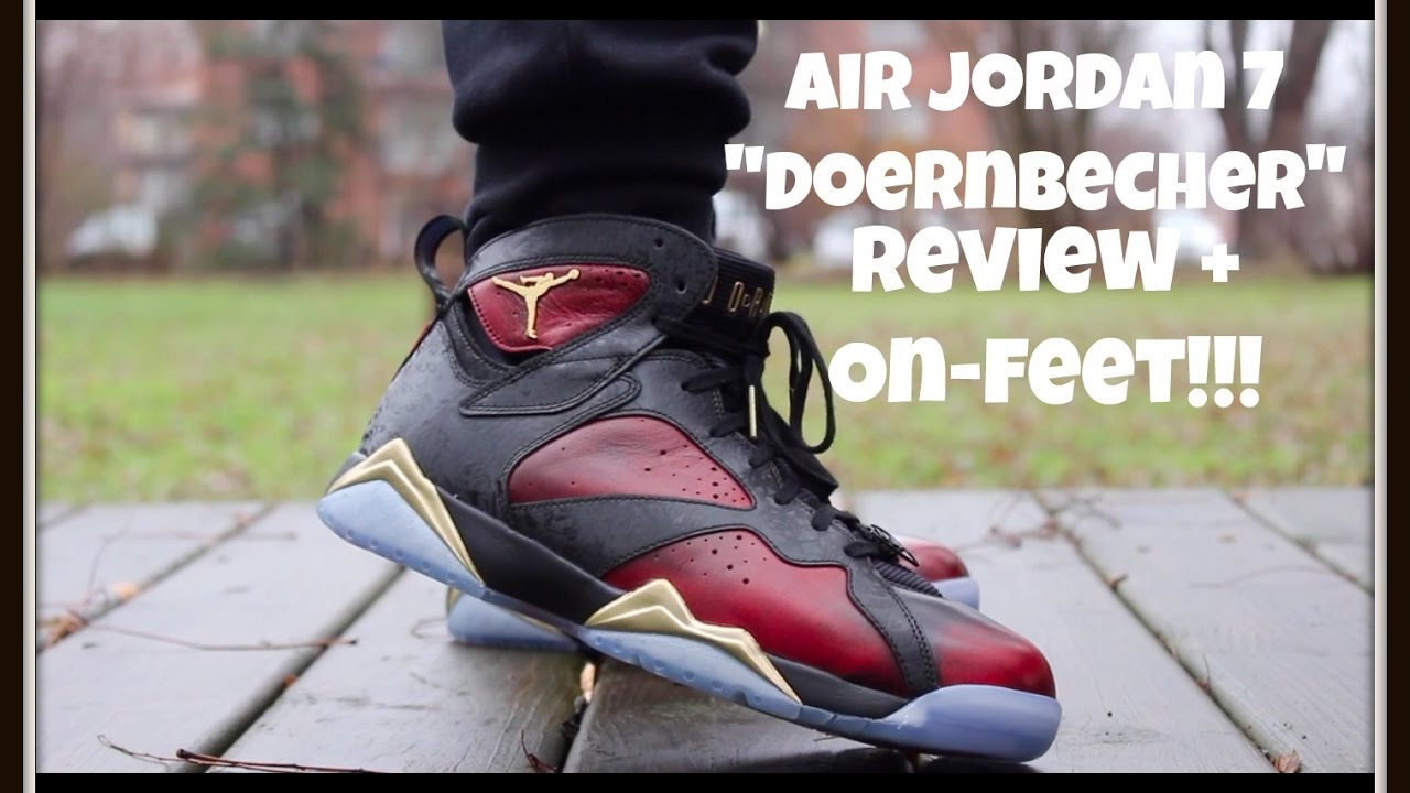 "AIR JORDAN 7 ""DOERNBECHER"" REVIEW + ON-FEET!!! - YouTube