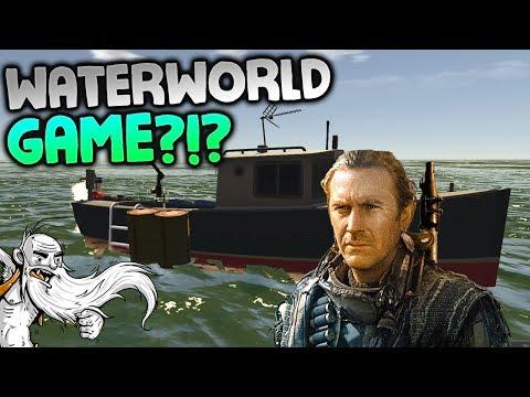 "Landless Gameplay - ""WATERWORLD BOAT SURVIVAL?!?""  - Let's Play Walkthrough"