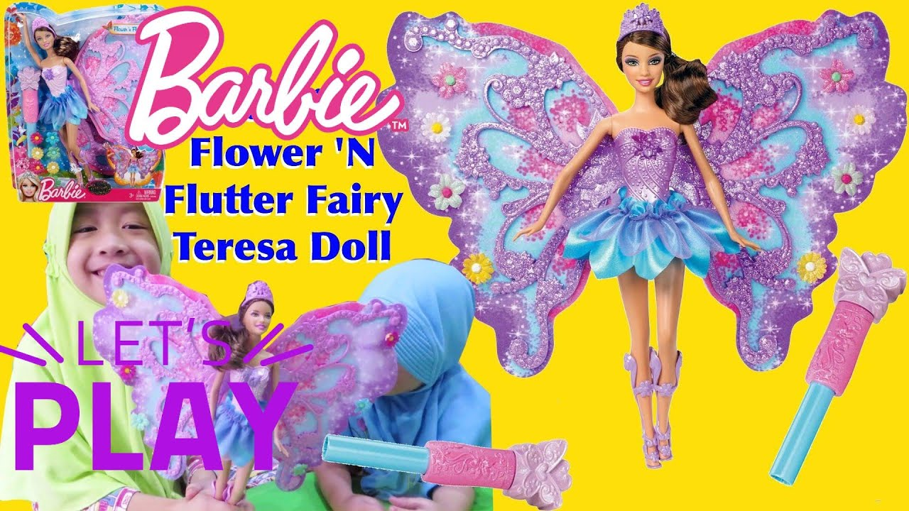 Mainan anak barbie teresa flower n flutter fairy teresa doll toy for child LifiaTubeHD
