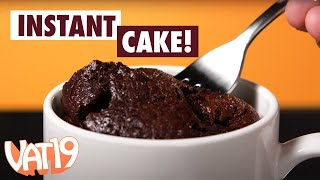 Make cake in a microwave!