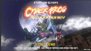 Playing this fanmade CYBERFROG video game demo live!