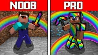 Minecraft NOOB vs PRO : RAINBOW BATTLE CHALLENGE in minecraft / Animation