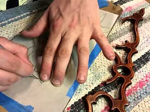 Replace applique on antique furniture using a template, part 1