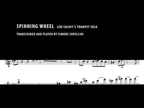 Spinning Wheel, Simone Copellini plays Lew Soloff's trumpet solo