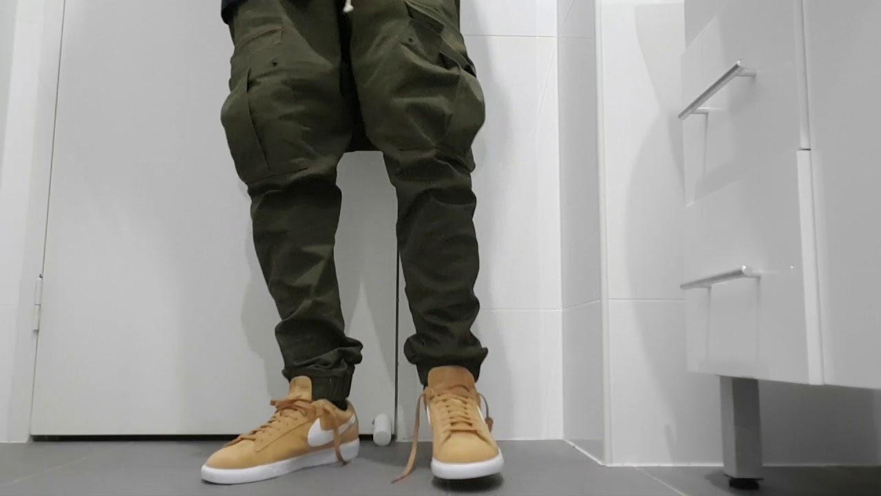 4f7fff26c6b4 Nike blazers wheat on feet with army green cargos pants - YouTube