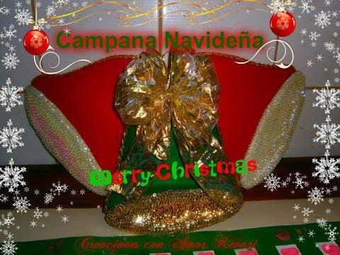 campanas navideas de fieltro y proyectos realizados de christmas bells