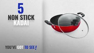 Top 10 Non Stick Kadai [2018]: Nirlon Heavy Gauge Non-Stick Cookware Deep Kadai With Glass Lid,