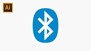 How to Draw Original Bluetooth Logo - Adobe Illustrator