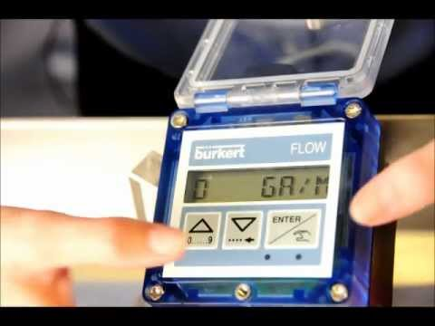 Inputting the K-factor into a Burkert Flow Meter