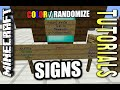 Minecraft PS4 - COLOR + RANDOMIZE SIGNS - How To - Tutorial ( PS3 / XBOX )