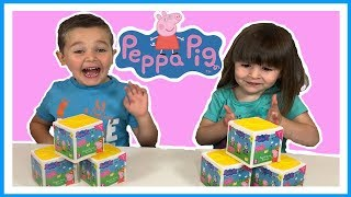 PEPPA PIG - What's Inside Peppa's SECRET SURPRISE Party BOX? Toy Unboxing Fun!