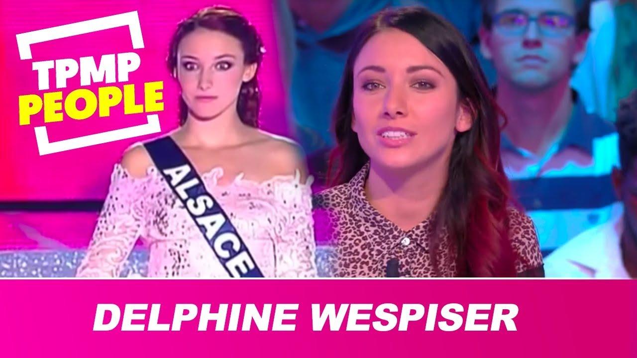 Delphine Wespiser très gênée de revoir des images de Miss France