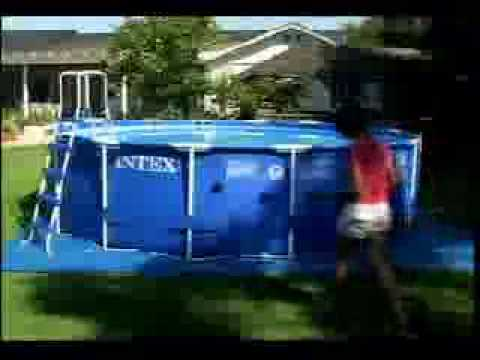Installer une piscine ronde sequoia spirit en bois intex for Liner pour piscine intex sequoia