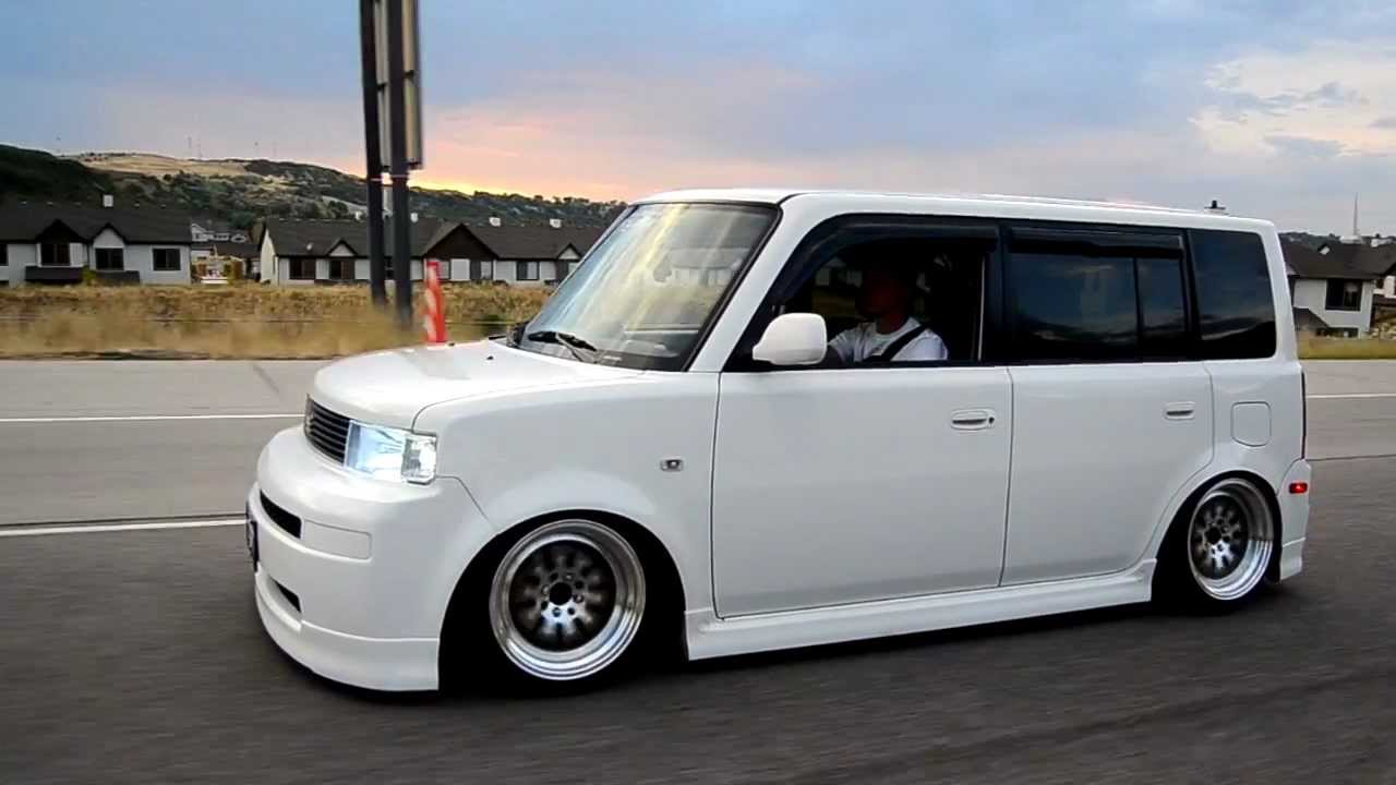 Scion xB with Custom Rims, Lambo Doors & Blacked Out Taillights #Scion #xB #CustomRims, #LamboDoors & #BlackOut #Taillights