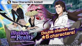 Illusion and Reality: Karakura Battle Summons: New 5* Aizen, Shunsui, & Shinji: Bleach Brave Souls