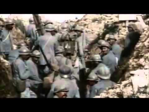World War One - Slaughter in the trenches in color!