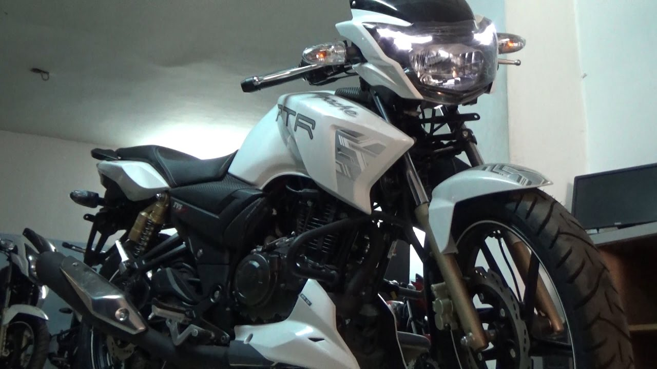 NEW BS IV TVS APACHE RTR 180 WITH AHO WALK AROUND VIDEO