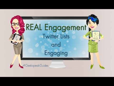 Twitter Lists and Engaging FOR REAL