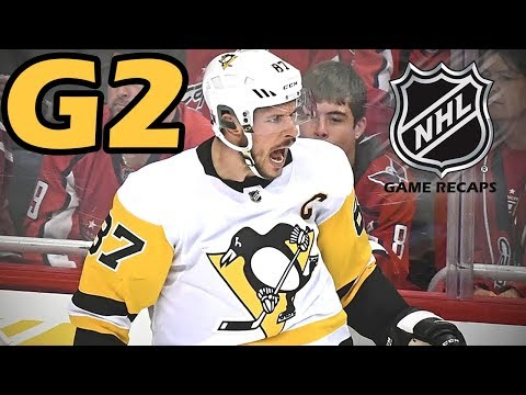 Pittsburgh Penguins vs Washington Capitals. 2018 NHL Playoffs. Round 2. Game 2. 04.29.2018. (HD)