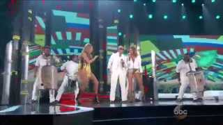 Repeat youtube video Pitbull feat. Jennifer Lopez & Claudia Leitte - We Are One (Live Billboard Music Awards 2014)