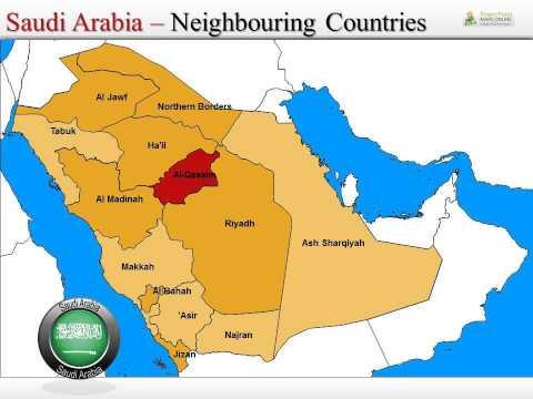 Saudi Arabia Map PowerPoint Templates