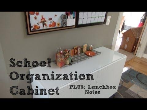 school-days:-school-organization-cabinet-and-lunchbox-notes