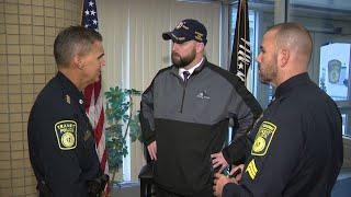 Purple Heart recipient inspired No Shave November fundraiser among Massachusetts police