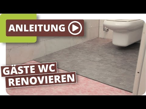 wc renovierung mit klick vinyl. Black Bedroom Furniture Sets. Home Design Ideas