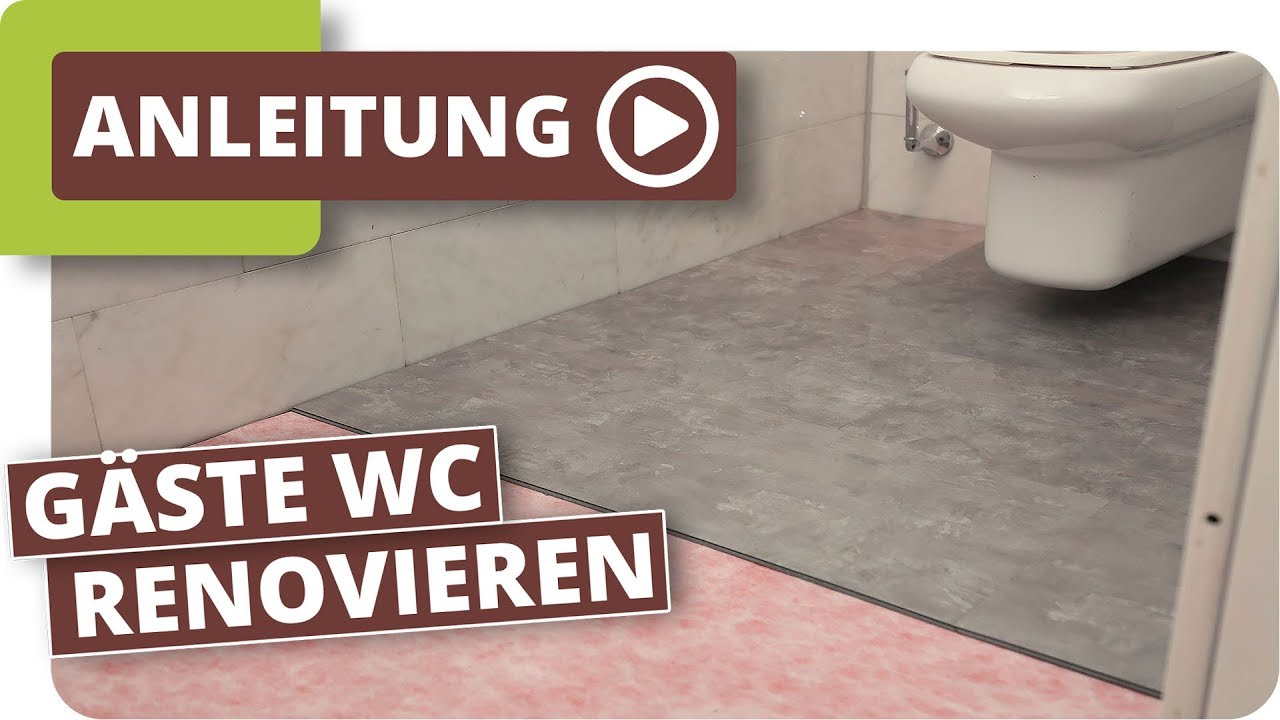 wc renovierung mit klick vinyl youtube. Black Bedroom Furniture Sets. Home Design Ideas