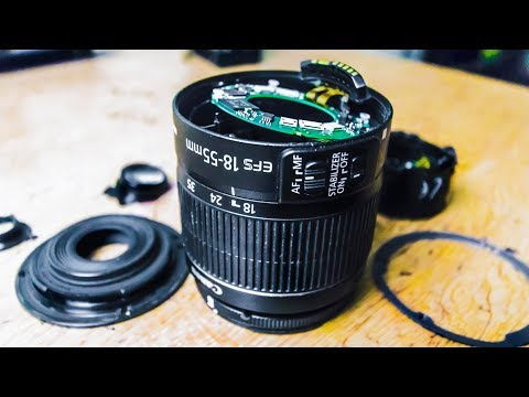 What's Inside A Camera Lens (Canon 18-55mm Kit Lens)