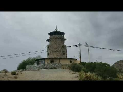 The Desert LookOut Tower Before Abandoned Train