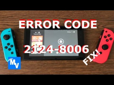 Switch error code  2124-8006 how-to fix