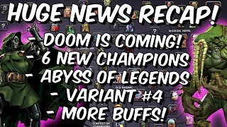 6 New Champions, Abyss Of Legends, Variant #4 & Huge News Recap! - Marvel Contest of Champions