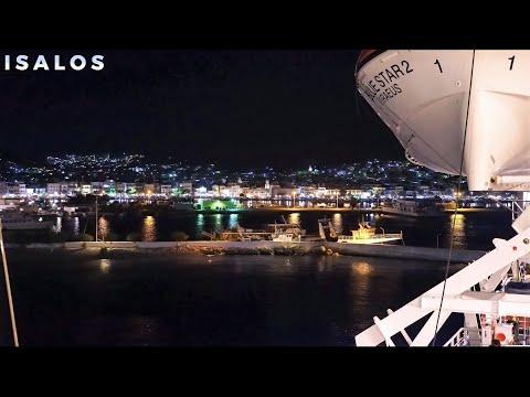 Blue Star 2 – Νυχτερινή αναχώρηση από Κάλυμνο (Departure from the port of Kalymnos)