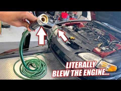 Can a Car RUN Through a GARDEN HOSE?? (DO NOT TRY)