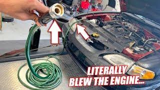 Download Can a Car RUN Through a GARDEN HOSE?? (DO NOT TRY) Mp3 and Videos