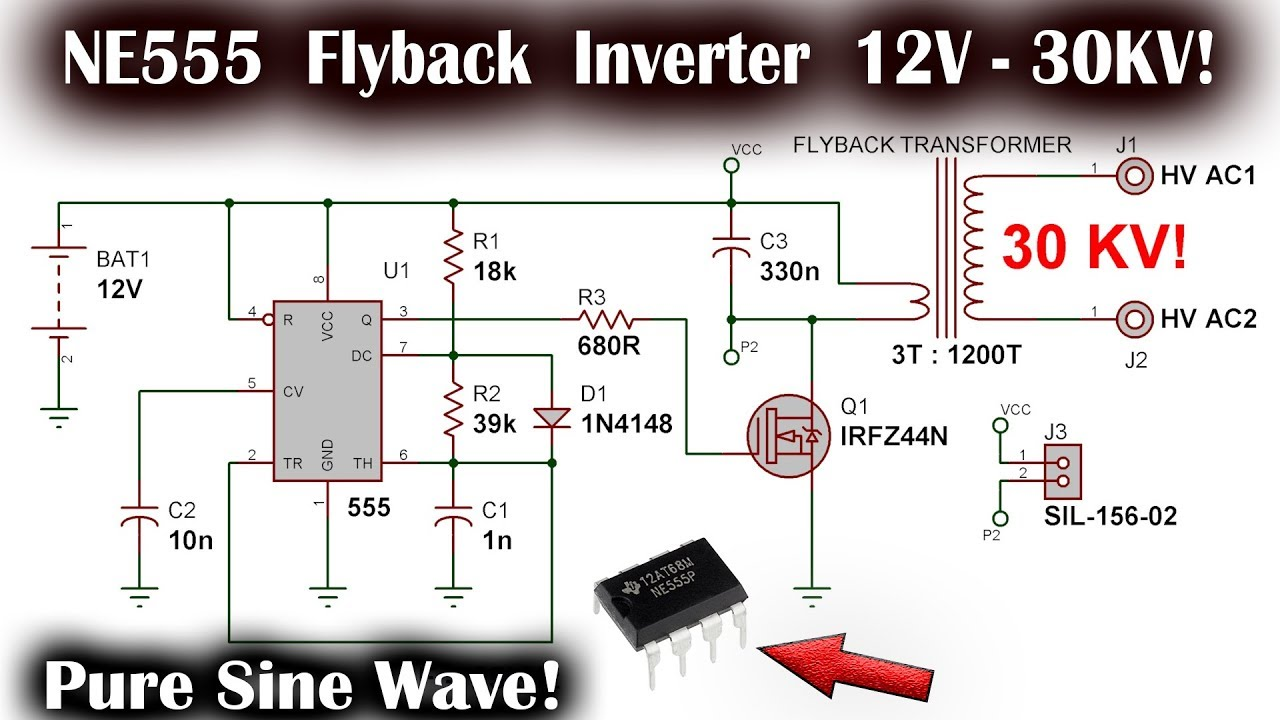 Simple NE555 Pure Sine Wave Inverter