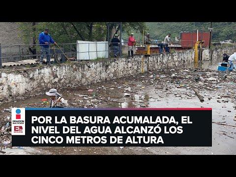 Limpian presa El