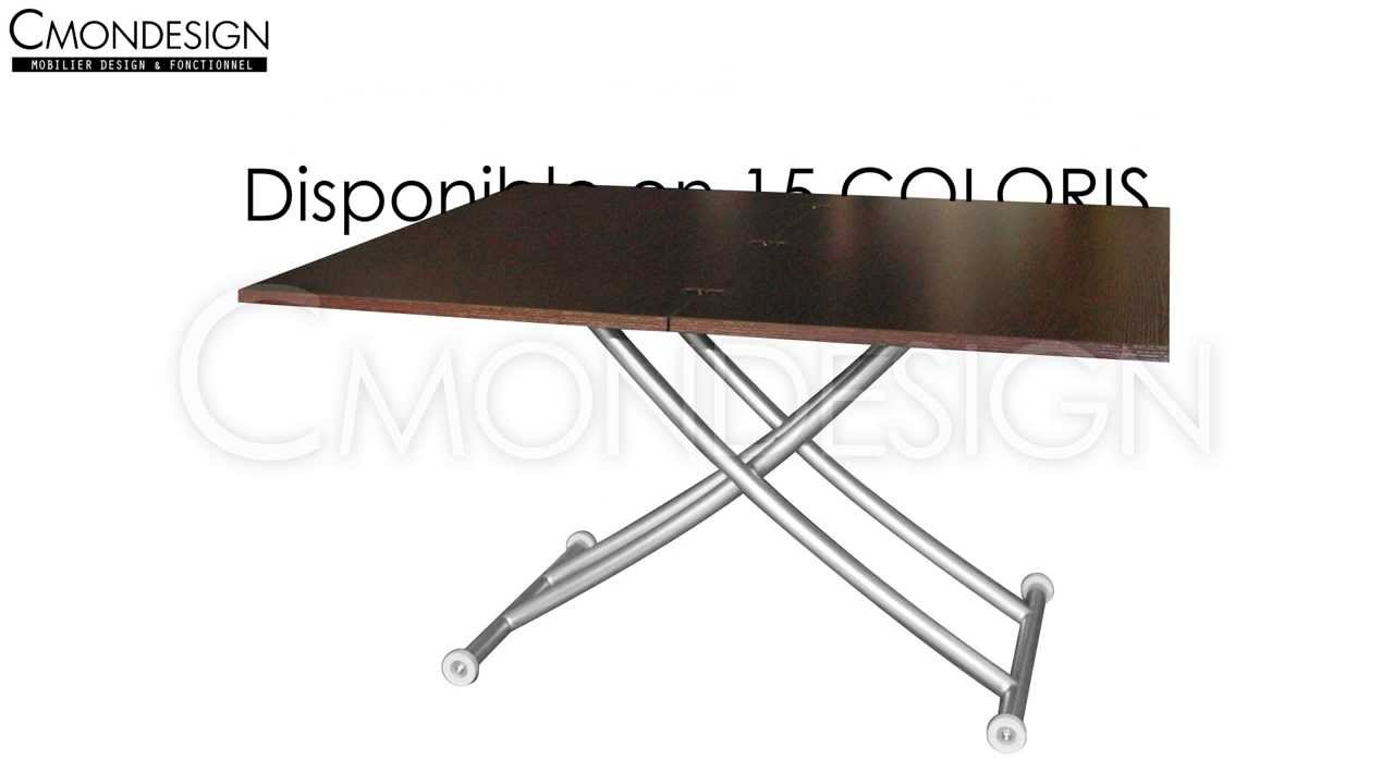 Cmondesign table basse relevable up down youtube - Table basse relevable cassidy ...