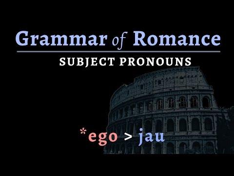 Romance Languages: subject pronouns
