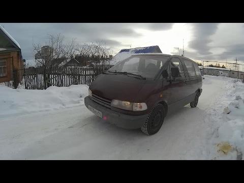Фото к видео: Обзор Toyota Previa (Estima) 2.4 AT (2TZ-FE) (1993.г.)