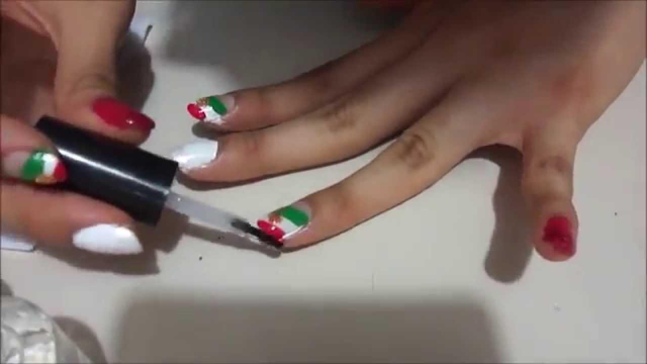 Diseño de uñas: Viva México - YouTube