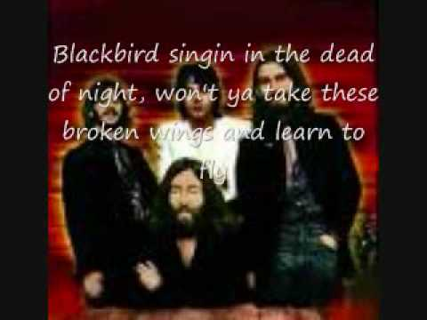 The BeatlesBlackbird wLyrics!