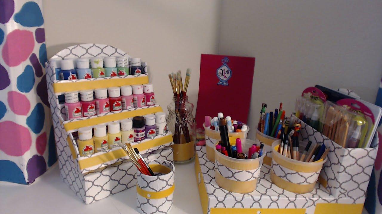 diy   markers organizer   back to school   cardboard ideas