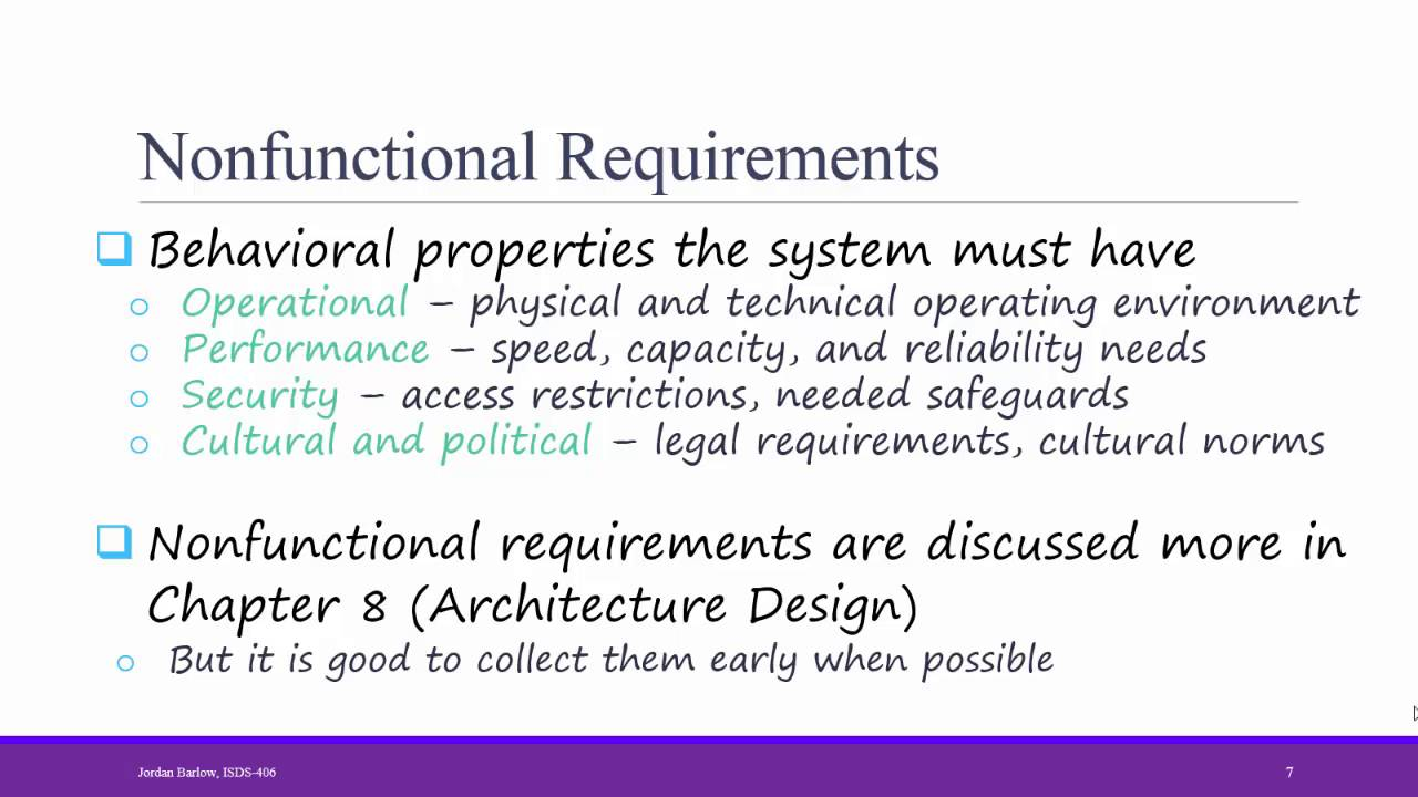 Systems Analysis Design Ch 3 Requirement Types And Documentation Youtube