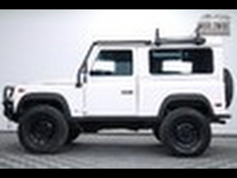 1997 Land Rover Defender 90 D90 White. Auto. AC. Custom ...