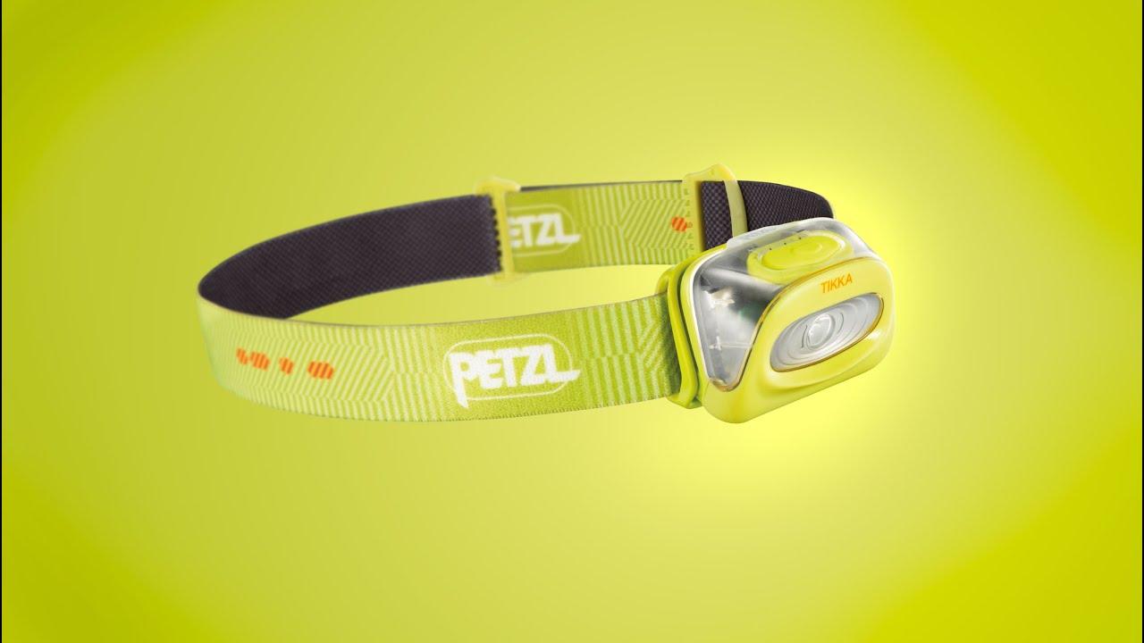 PETZL Tactikka + RGB Hodelykt Kamo Fem lysnivåer, 250 lumen