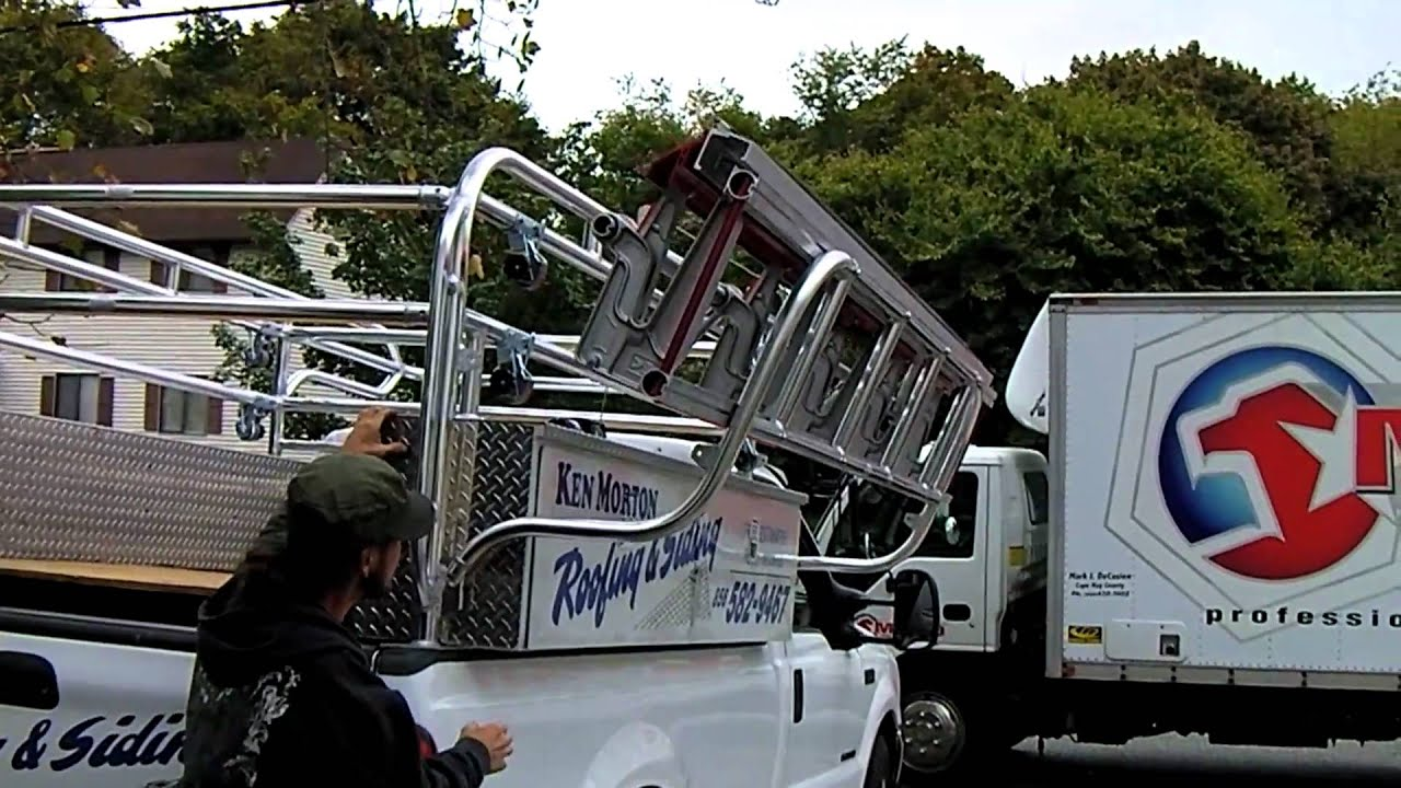 Jeep Cargo Trailer Ladder Rack with siding brake - YouTube